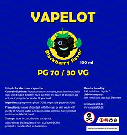 Vapealot - Black Berry (Brombær) 120ml