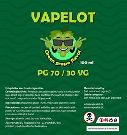 Vapealot - Green Grape (Grønne vindruer) 120ml