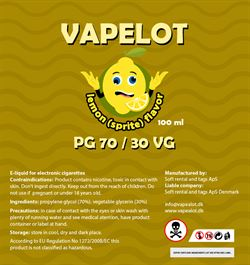 Vapealot - Lemon ( Sprite ) 120ml